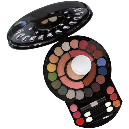 Gloss! Palette de Maquillage Ronde 34 Pièces, Coffret Cadeau-Coffret Maquillage