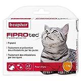 Beaphar - FIPROtec, Pipettes Anti-puces et Anti-tiques au Fipronil - Chat - 3 Pipettes