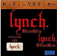 Lynch カッティングステッカー (赤)