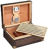 JIAWYJ XIAOJUAN Humidificador con higrómetro Humidor de cigarro termostático Caja Decorativa