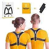 HEMERA Geradehalter zur Haltungskorrektur gegen Rücken-, Nacken und Schulterschmerzen | Rückenstütze gegen Verspannungen