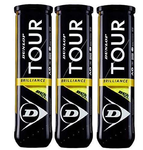 Dunlop Tennisbälle TOUR BRILLIANCE 12 Bälle (3x4)