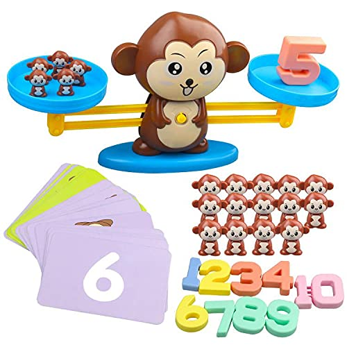 アップグレードされたモンキーバランス クールな数学ゲーム STEMモンテッソーリ 幼稚園 3歳 4歳 5歳用 (94...