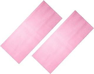 Prettyia 2 Pieces Stretchable Nylon Exfoliating Bath & Shower Cloth Towels - Rose Red