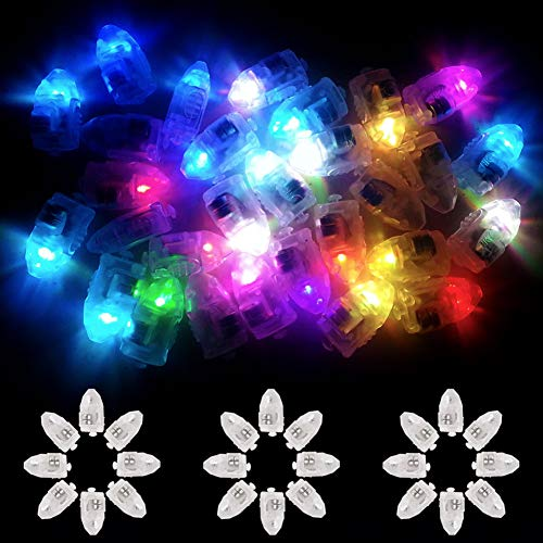 Xiangmall Led Bombillas Mini Luces Globo Luz Linternas Papel Individual Led Lights para Festival Cumpleaños Boda Decoración 100Pcs (Coloreado)