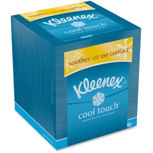 Kleenex Cool Touch Facial Tissue - 2 Ply - 50 Sheets Per Box - 50 / Box - White