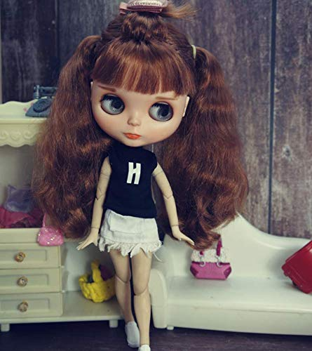 leoglint Blythe Doll Clothes, Shirt and Skirt Clothing for Blythe Doll 30 cm 1/6 Bjd Dolls Azone ICY Licca Doll
