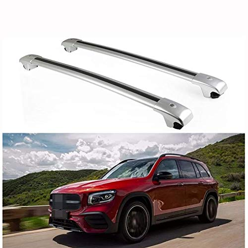 78cm Barras Transversales Coche Aleación de Aluminio con Cerradura, Soportar 150 Kg, para Los Modelos Mercedes B ENZ GLB X247 2019 2020 Barras Techo Coche