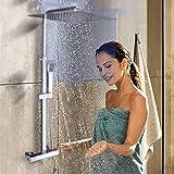 Sistema doccia con termostato,30 x 30 cm,Sistema doccia a parete,Set doccia con termostato,Doccia con termostato,Sistema doccia con termostato,Set doccia con colonna doccia,Soffione a pioggia