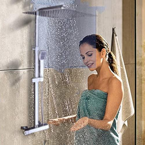 Duschsystem Duscharmatur Thermostat,30 * 30cm Dusche mit Thermostat,Duschsystem mit Thermostat Regendusche Duschset Duschsäule Dusche Duscharmatur Brausethermostat Shower