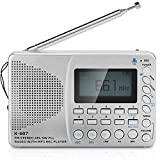 Portable All Waveband Insert Card Radio-Cassette Recorder LCD Display with Large-Capacity Battery