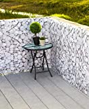 Collections Etc Decorative 15ft. Pebble Design Deck and Fence Privacy Screen Netting