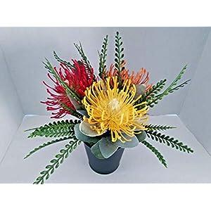 Artificial Protea Centerpiece. Silk Flower Arrangements