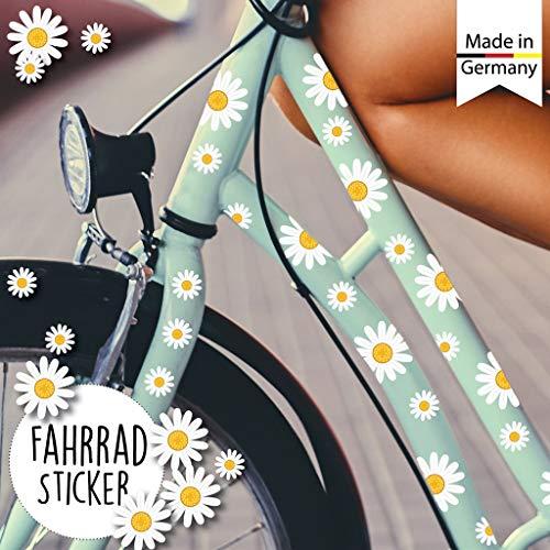 Wandtattoo Loft Fahrradaufkleber 64 STK. Gänseblümchen Blüten Blumen Fahrrad Sticker Fahrraddesign Kinderfahrrad