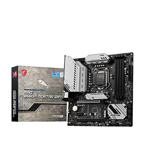 MSI MAG B560M MORTAR WIFI Placa Base Gaming, M-ATX - Soporta Procesadores Intel Core 11ª Generación, LGA 1200 - DDR4 Boost (5066MHz OC), 2 x PCIe 4.0 3.0 x16, 2 x M.2 Gen4 3, 2.5G LAN, Wi-Fi 6E