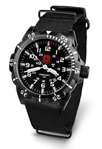 Praetorian Night Patrol Black PVD - Nato Armband - H3 Trigalight - Tritium