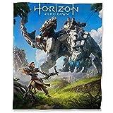 Coperta leggera in pile termico, 130 x 180 cm, Horizon Zero Dawn soffice coperta per divano letto e videogiochi Aloy