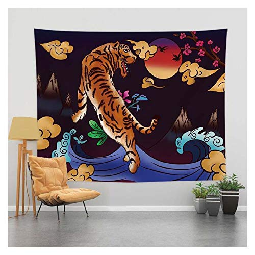 JHWSX Black Tapestry, Psychedelic Black White Sun Tapestry Wall Hanging, Funny Flags Background Cloths with String Lights for Room Wall Hanging College Dorm Decor (Color : 3, Size : 200×150cm)