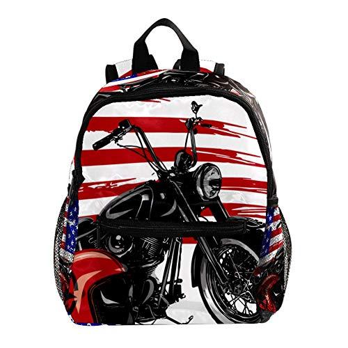 Motorrad und Helm Rucksäcke für Kinder/Kleinkinder Jungen und Mädchen von 3-8 Jahren 25.4x10x30CM