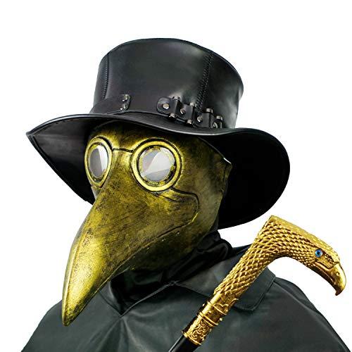 PartyHop Mascara Doctor Peste, Pico De Pájaro De Oro