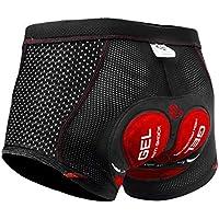 X-TIGER Hombres Ropa Interior de Bicicleta con 5D Gel Acolchado MTB Boxer Ciclismo Pantalones Cortos