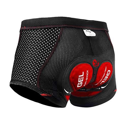 X-TIGER Herren Radunterhose Fahrradhosen mit 5D Sitzpolster Fahrrad MTB Unterwäsche Pro Bike Boxer Größe Kurze Hosen…
