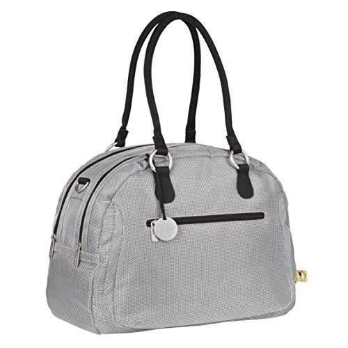 Casual Gold Label Bowler Bag luiertas/babytas incl. wikkelaccessoires, metallic zilver