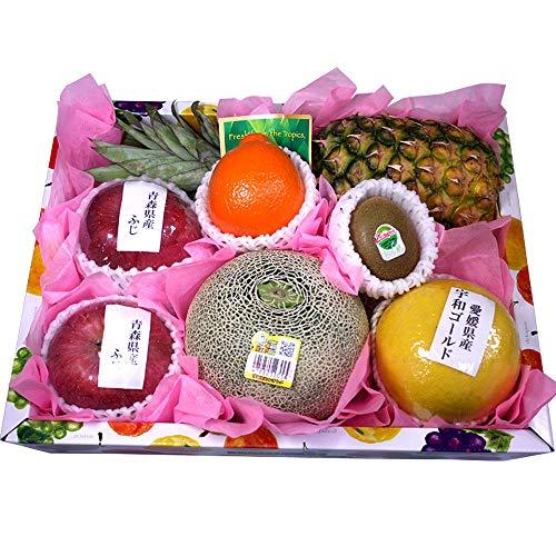 旬の果物 詰め合わせ Mサイズ 国産メロン1玉入り 日本 果物 ギフト フルーツギフト