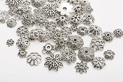 45g Tibet Silber Spacer Perlen Charms Beads