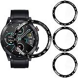 CAVN Protector de Pantalla Compatible con Honor Magic Watch 2 46 mm, 3 Unidades, Curvado 3D [a Prueba de roturas] [antiarañazos] [Cobertura Completa, Compatible con Honor Magic Watch 2 46 mm