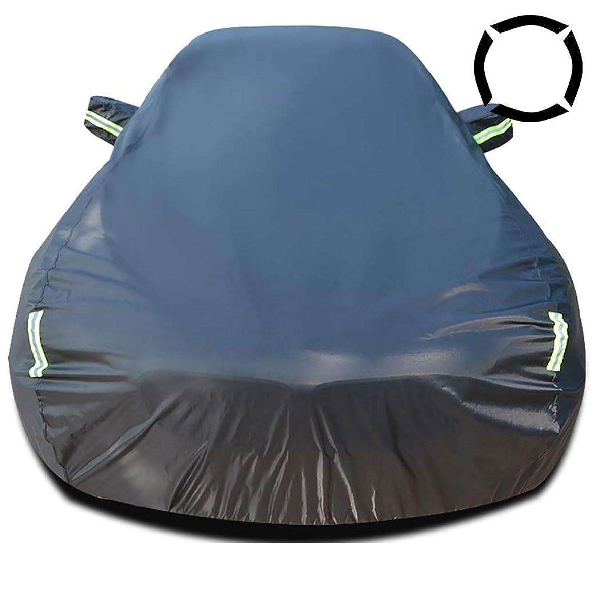 仲人動的皮肉な蛍光灯が付いている車のカバー防水カーカバーはUVプロテクション全ての天気雪ダスト雨耐風屋外プロテクター車の服フィットX5 X3のX6のX1のX4 Z4ストリップ (Size : BMW X4)