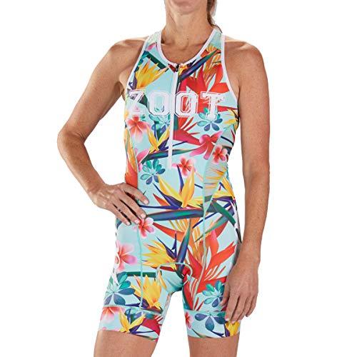 Zoot Ladies Triathlon Triathlon Design Tuta da Gara 83 Senza Maniche, Elementi Riflettenti, SPF 50+, Due Tasche Posteriori e Cerniera Frontale da 15 cm Dimensione S