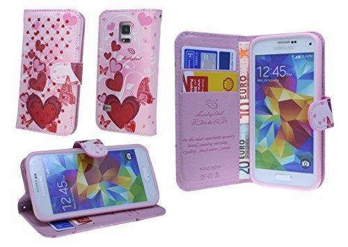 ENERGMiX Book-Style Handyhülle kompatibel mit Sony Xperia Z1-Compact D5503 Schale Schutzhülle Tasche Zubehör mit Strass Steinen Motiv 4