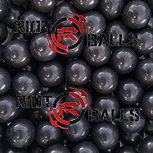 100 X 0.68 Cal. Jawbreaker Solid Balls Paintballs Self Defense Nylon 3.5 Gram Paintballs Less Lethal Practice Balls Black