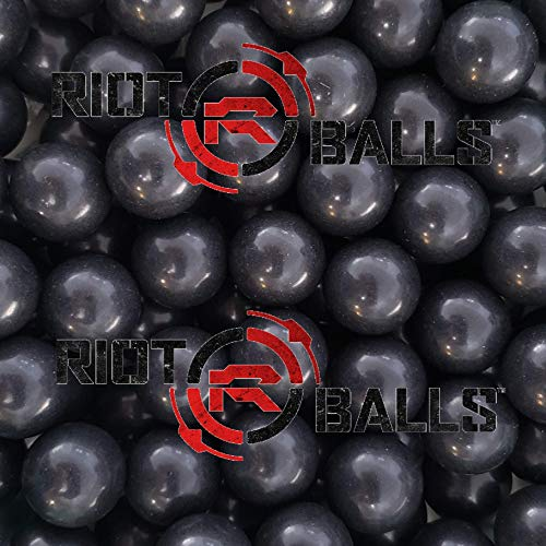 100 X 068 Cal Jawbreaker Solid Balls Paintballs Self Defense Nylon 35 Gram Paintballs Less Lethal Practice Balls Black