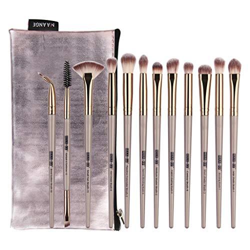 12 pcs maquillage ombre à paupières pinceau surligneur pinceau de maquillage Professional Maquillage Set de brosse Maquillage Kit de Set de Brosse Pinceau Soyeux et Denses