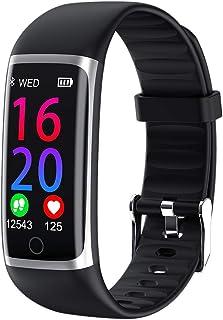 LBFXQ Activity Tracker Podómetro Tasa De Corazón Monitor De Sueño, Rastreador De Fitness HR, Reloj Inteligente Teléfonos Compatibles Natación Impermeable