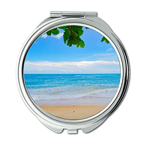 Yanteng Spiegel, kompakter Spiegel, ruhige Strandwolken, Taschenspiegel, tragbarer Spiegel