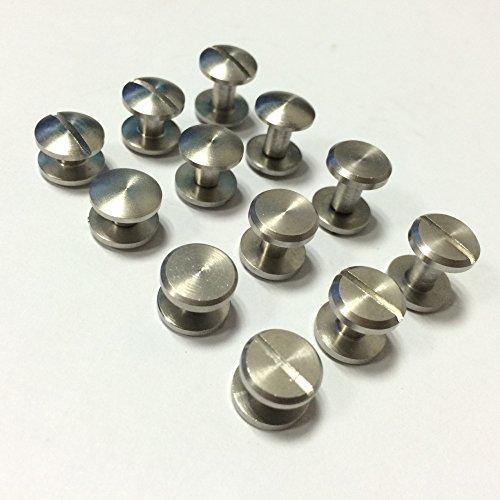 Lautechco バインディングネジ スタッド ボタン ネイル リベット 革細工ベルト バッグ 財布用 5個入り (10*4*8cm)