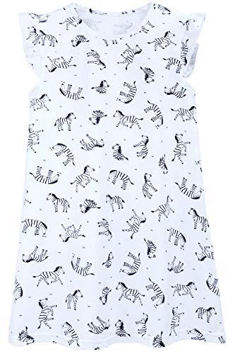 Auranso Girls Princess Dress Cotton Flutter Sleeve Skirt Dresses Zebra 2-3T
