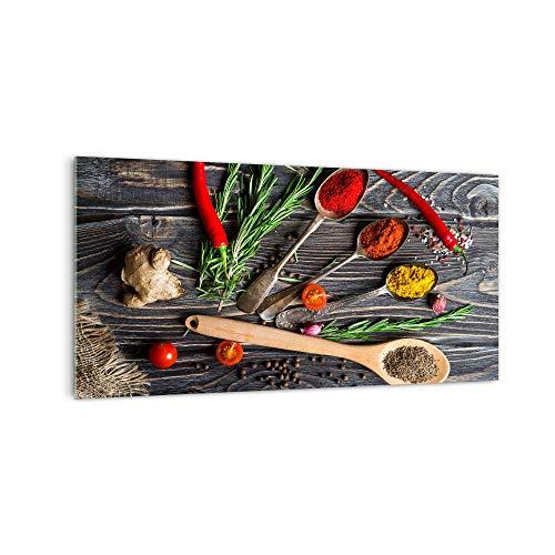DekoGlas Küchenrückwand \'Gewürzbrett\' in div. Größen, Glas-Rückwand, Wandpaneele, Spritzschutz & Fliesenspiegel