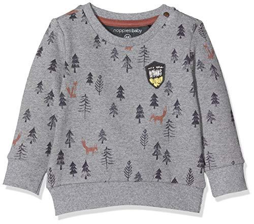 Noppies Baby-Jungen B Sweat ls Allentown Sweatshirt, Grau (Charcoal Melange P206), (Herstellergröße: 80)
