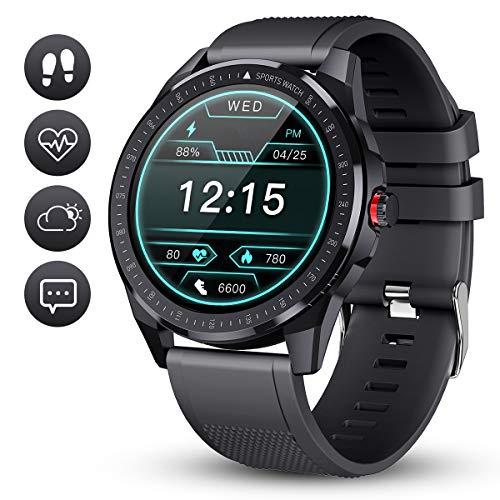 Smartwatch GOKOO Fitness Tracker Herren Männer Sportuhr IP68 Wasserdicht Aktivitätstracker Mit Schrittzähler Schlafmonitor 10 Sportmodi Pulsuhren Stoppuhr für iOS Android Handy