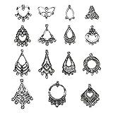 LolliBeads (TM) Lot d'apprêts pour la fabrication de bijoux tibétains argentés, pour boucles d'oreilles...