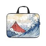 Japonés Ukiyoe Mount Big Wave - Funda multifuncional para portátil para hombres, mujeres, niños y niñas, White (Blanco) - Zhouwonder670