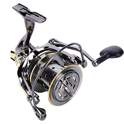 Carrete de Pesca de Metal, Carrete de Pesca con caña giratoria Carrete de Pesca Giratorio, para Pesca en el mar al Aire Libre(GX12000)