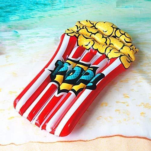 QWE Pool Giocattoli sicuri Popcorn Materasso Gonfiabile Air Acqua Floating Summer Beach Swimming Pool Party Lounge Tatuaggi Raft Giocattoli for i Bambini JHKK