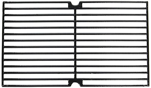 Music City Metals 69763 Gloss Cast Iron Cooking Grid Replacement for Gas Grill Models Kenmore 148.16656010 and Uniflame GBC976W, Set of 3