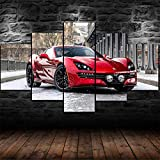 45Tdfc 5 Unidades Pictures Red Equus Shamback Super Coche Painting Home Decor Modern Wall Art Canvas HD Prints Frame Modular Poster