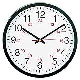 KornKan Universal 24-Hour Round Wall Clock 12 5/8' Black